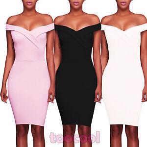 d1dc6984f64f Vestito donna mini abito tubino scollato aderente elegante nuovo ...