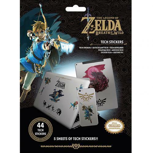 La Leyenda de Zelda Tech Pegatinas Mercadería Oficial