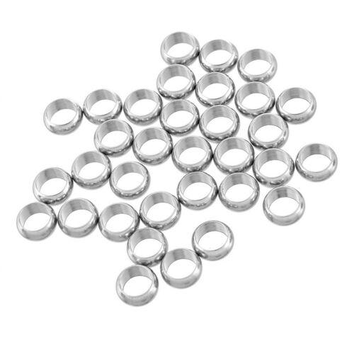 250 Perles Acier Inoxydable Rond Pr Bijoux Création DIY 9x4mm
