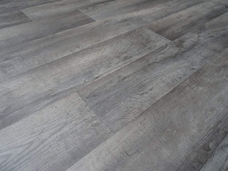 PVC Bodenbelag Holz-Optik Planken vintage grau 395 cm x 4,00 Meter RESTPOSTEN