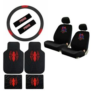 Image Is Loading New Spiderman Spider Man Car Seat Covers Floor