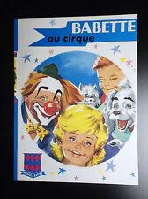 Babette au Cirque Rouge et bleue 1963 Sidobre TTBE