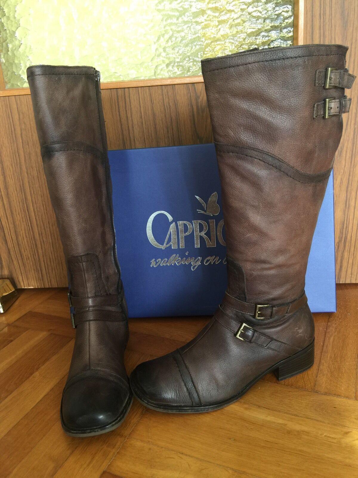 Caprice Damen Stiefel Gr. 40 ( 6,5 )Braun Echtes Leder