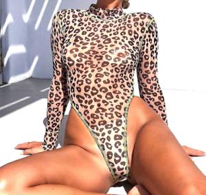 Boho Festival Rave Mesh Club Wear leopard vert fluo Body String Vendeur Britannique