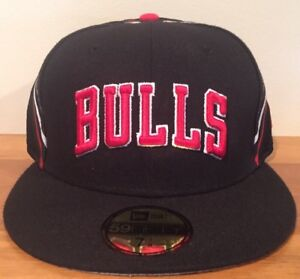 870a3f808f5a6 Chicago Bulls New Era 59Fifty Jersey Nights 2 Fitted Hat Size 7 1 8 ...