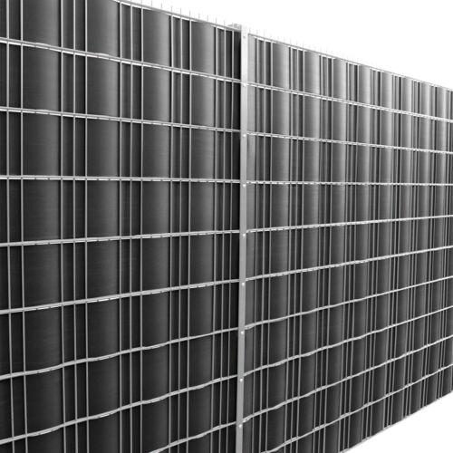 140m Sichtschutz Zaunfolie Schwarz PVC Windschutz Doppelstabmatten neu.haus