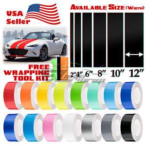 Gloss Color Racing Stripes Vinyl Wrap For Mazda Miata Mx 5 Stripe 25ft 50ft Ebay