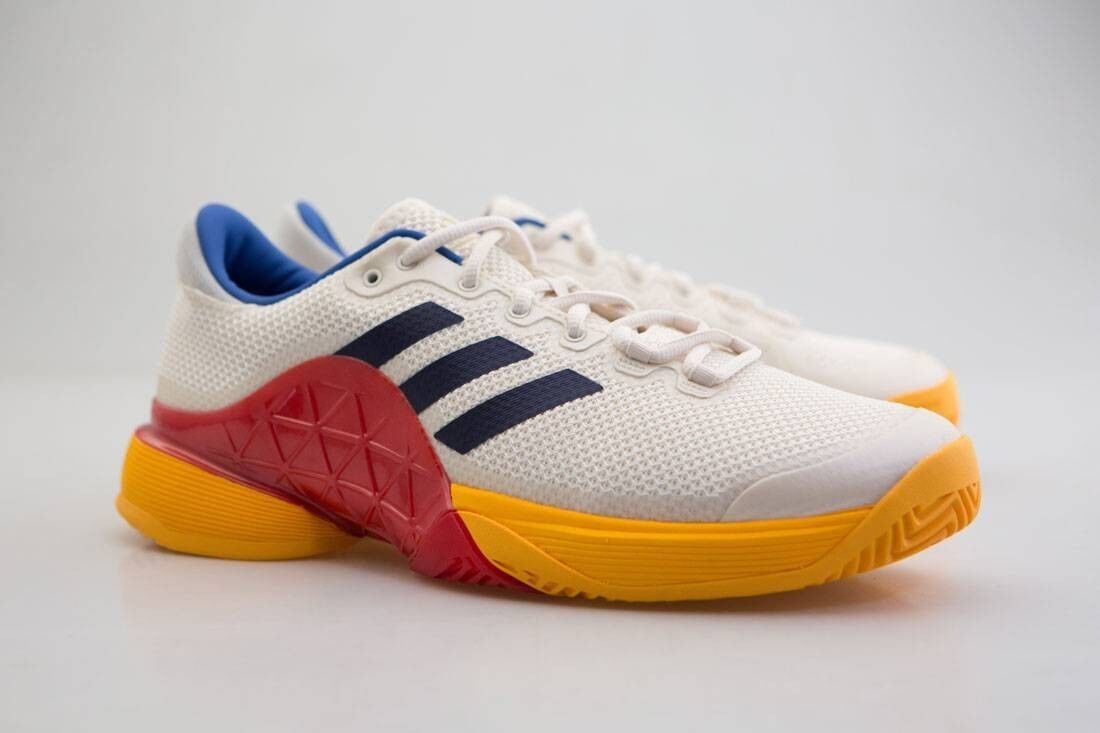 S81004 Adidas x Pharrell Williams Men Barricade 2018 white chalk white dark blue
