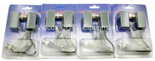 4 Pairs BNC Balun Video Power Audio Signal over Cat5//6 UTP Cable for CCTV Camera