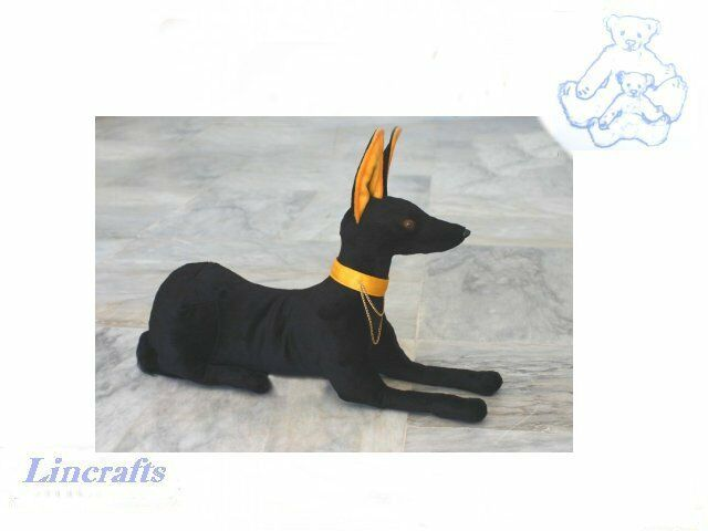 Pharaoh Hound. Anubis, Plush soft toy by Hansa. Sold by Lincrafts. 4873