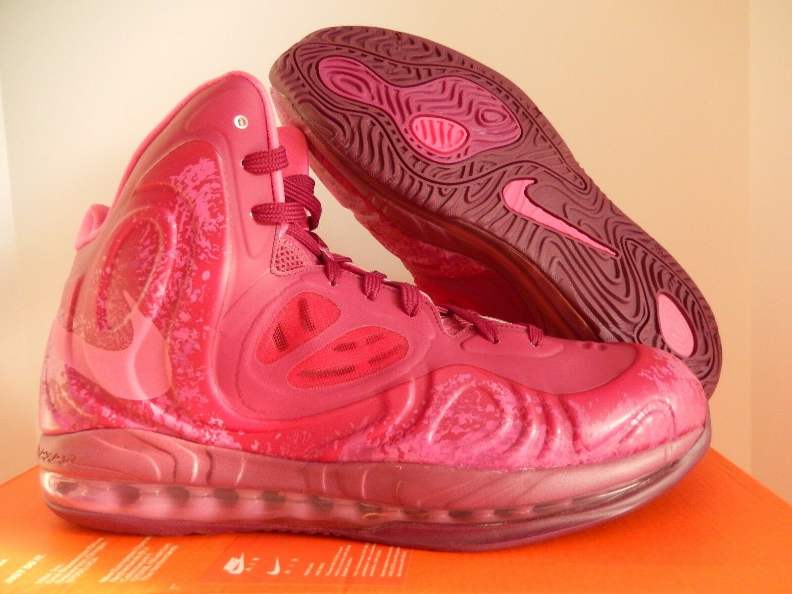 NIKE AIR MAX HYPERPOSITE RASPBERRY RED-PINK FOIL SZ 9.5 [524862-601]