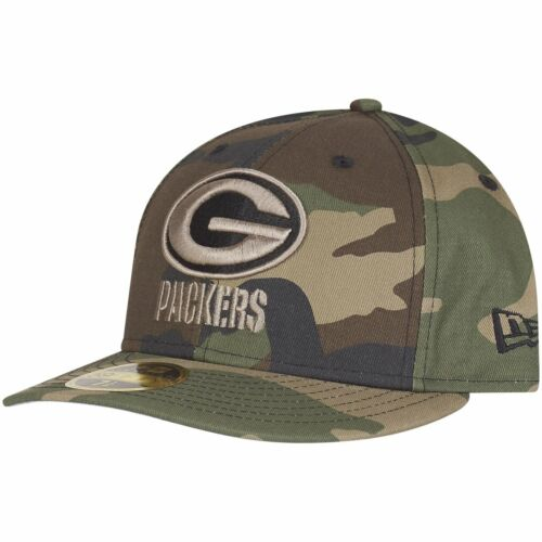 New Era 59Fifty LOW PROFILE Cap Green Bay Packers wood camo
