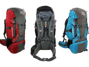 6c16efdcb4b Image is loading Highlander-Discovery-65-Litre-Backpack-Black-Teal-Blue-