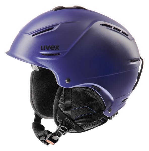 Uvex P1us Indigo Mat Ski Helmet Super-Light Snowboard Winter Sport