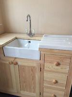Small Belfast Butler Sink & Lever Tap & Waste Complete Set £145