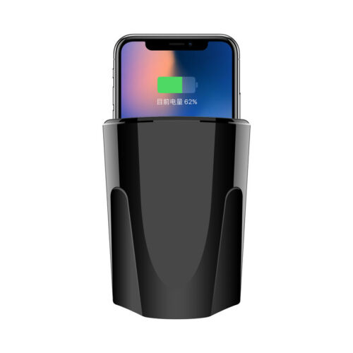 DC5V//2.1A USB Port Qi Wireless Charger Transmitter Cup Mount Holder For iPhone 8