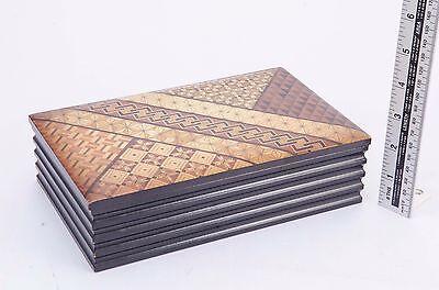 Yosegi zaiku Bi-Fold Wallet Traditional Japanese parquetry Free Shipping Japan