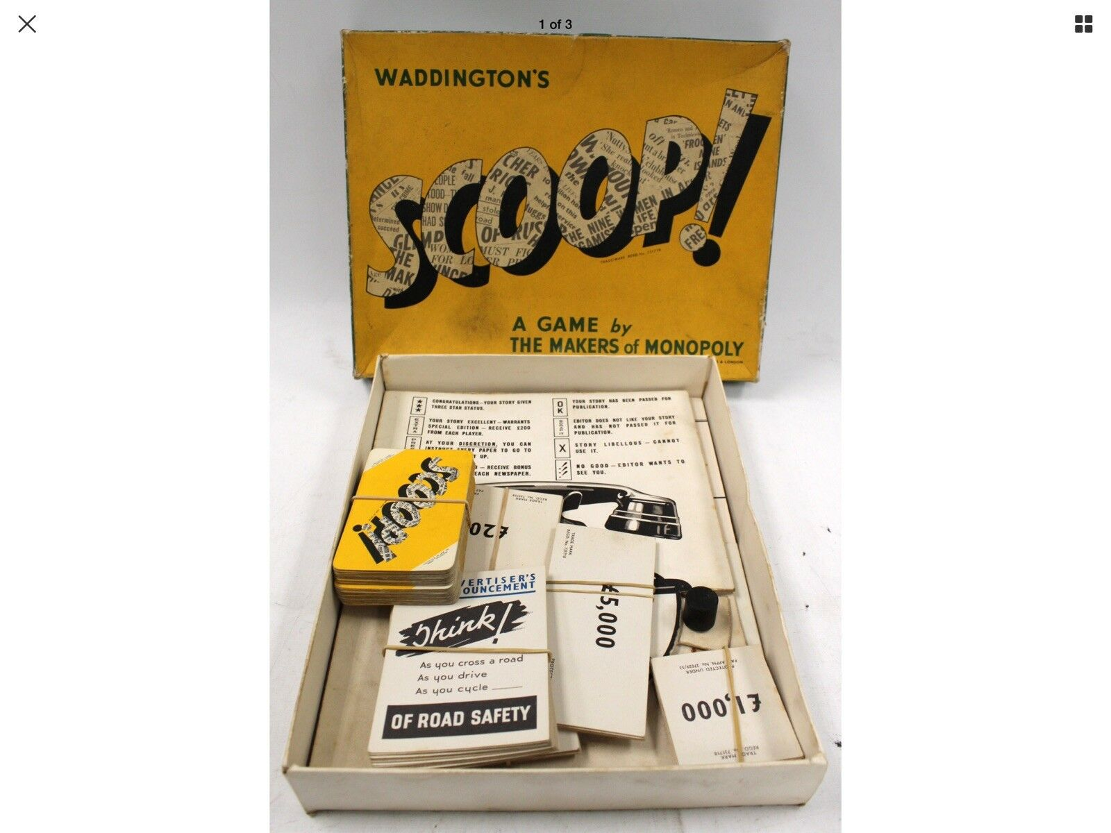 il più economico VINTAGE 1958 Waddingtons Scoop tavola tavola tavola gioco  qualità ufficiale