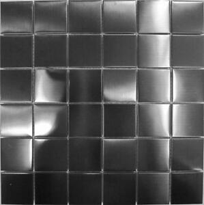 Stainless Steel Mosaic Wall Tiles Black Metallic Brushed Bathroom Kitchen MT0003 - Aberdare, United Kingdom - Stainless Steel Mosaic Wall Tiles Black Metallic Brushed Bathroom Kitchen MT0003 - Aberdare, United Kingdom