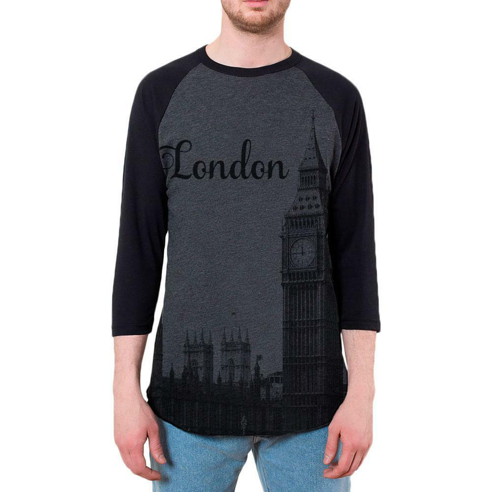 London Big Ben Vacation England Mens Raglan T Shirt