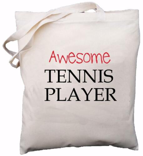 Awesome Tennis Player Gift Natural Cotton Shoulder Bag
