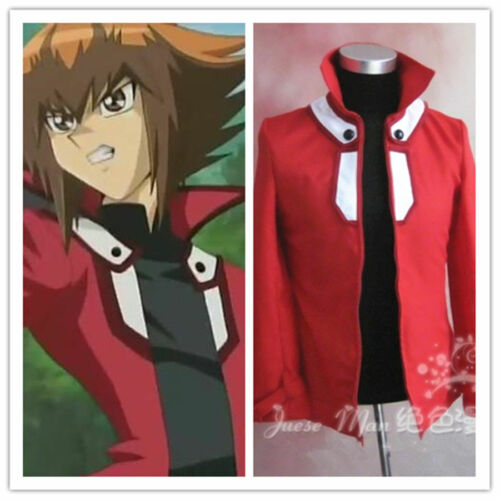 GX Jaden Yuki Red Jacket Coat Top Cosplay Costume Custom Made Yu-Gi-Oh