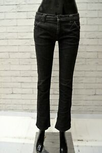 Jeans-Nero-Donna-LACOSTE-Taglia-38-Pantalone-Scuro-Pants-Woman-Black-Slim-Fit