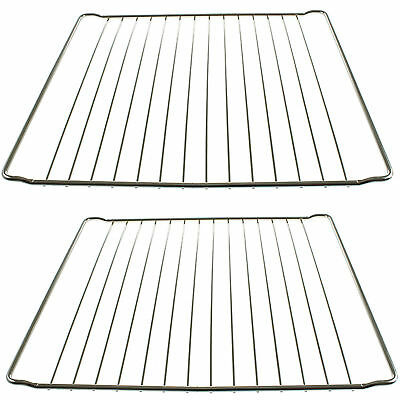 2 x 365mm x 395mm Strong Wire Oven Shelves Shelf Rack Grids for HOTPOINT Cookers