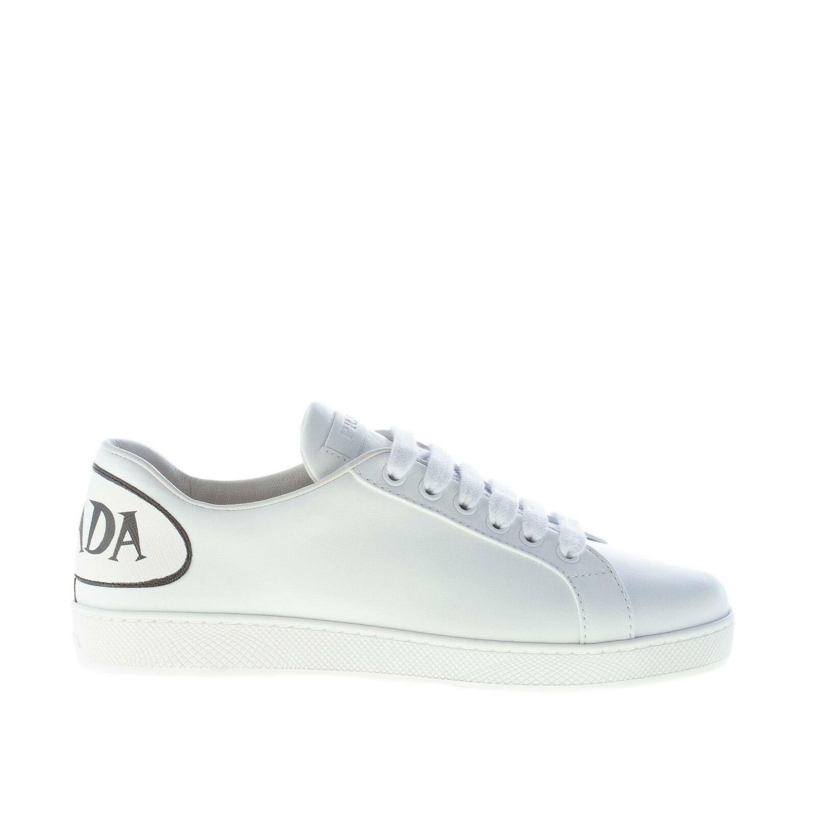 PRADA Chaussures femmes femmes femmes femmes chaussures en cuir blanc Comix baskets 1e779i 3kes f0009 e6043b