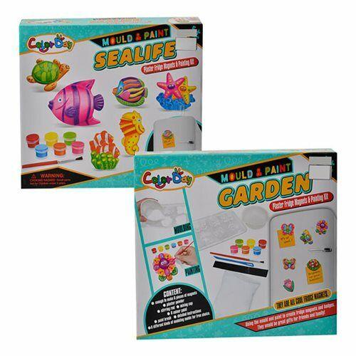 8037 Craft Set Art Pets Sealife Papillon Moule /& Peinture Plâtre Aimants de réfrigérateur