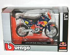 DAKAR RALLY REDBULL KTM SXF450 1:18 Die-Cast Motocross MX Toy Model Bike blue