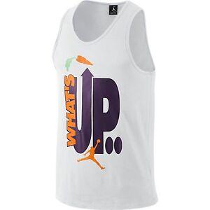 7f26d4f2a829 SZ 2XL Jordan Retro 7 WB Hare Mens T-Shirt Athletic Tank Top White ...