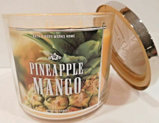 2 Bath /& Body Works FRESH PICKED MERRY MANGO 3-Wick Scented 14.5 oz Candle