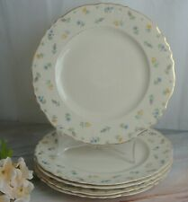 Set of 5 Vintage Federal Shape Syracuse China Suzanne Dinner Plates 9-7/8""