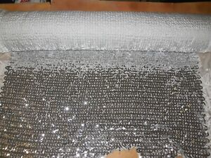 Solid-Sequin-on-Taffeta-Fabric-Silver-10-yd-Costuming-Crafts-33-034-wide-42-034-put-up