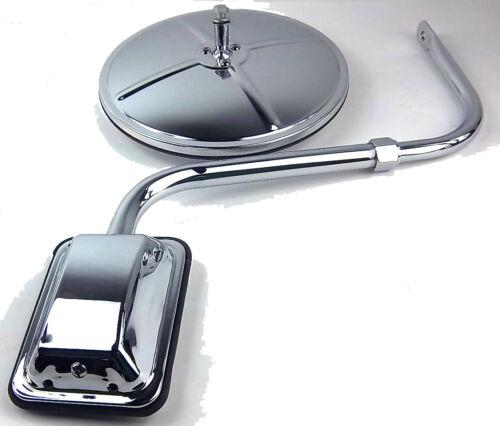 "mirror hood mount style 8/"" convex chrome bracket for Freightliner Kenworth Pete"