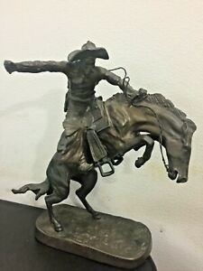 Bronze-Bronco-Buster-signed-Fredrick-Remington