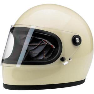 BILTWELL-GRINGO-S-MOTORRAD-CUSTOM-HELM-DOT-GEPRUFT-GLANZEND-GLANZ-VINTAGE-WEIss