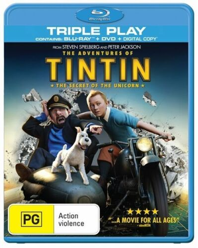 1 of 1 - The Adventures Of Tintin - Secret Of The Unicorn (Blu-ray, 2012) NEW & SEALED R4