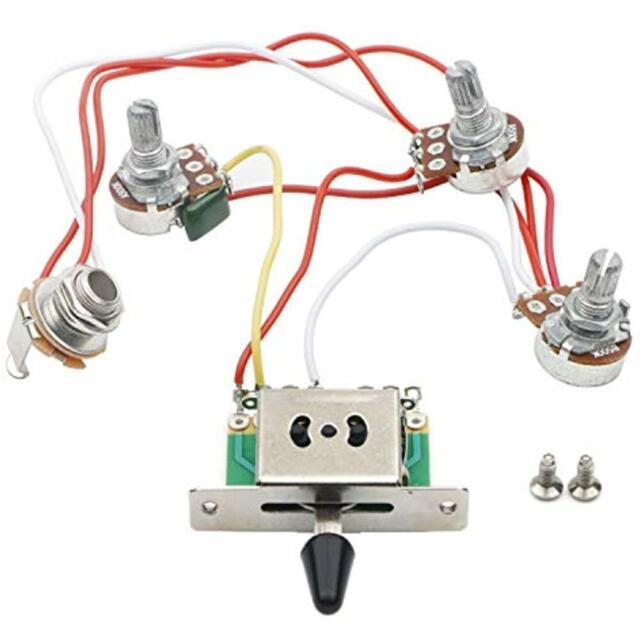 wiring control for guitars jiuwu strat guitar wiring harness prewired 3x 500k pots 1 volume 2  jiuwu strat guitar wiring harness