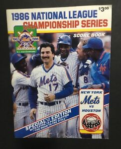 Details about 1986 National League Championship Series Score Book NY Mets  vs  Astros Nm Shea