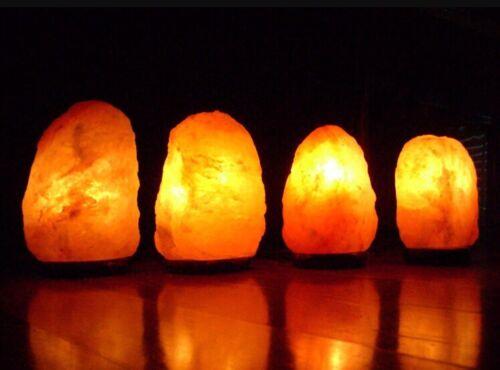 4 Salt Lamp Himalayan Salt Lamps Gift Set Ionizer Gemstone Specimen Rock Salt