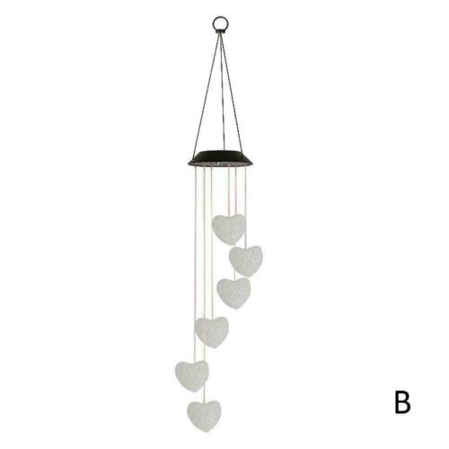 Farbwechsel LED Solar Licht Windspiel Lichter Garten Lampe Hänge Dekoration B1X2