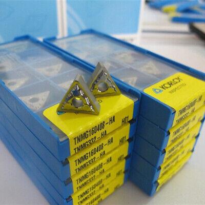 KORLOY TNMG160404-HA H01//TNMG331 CNC Cermet carbide inserts For aluminum 10Pcs