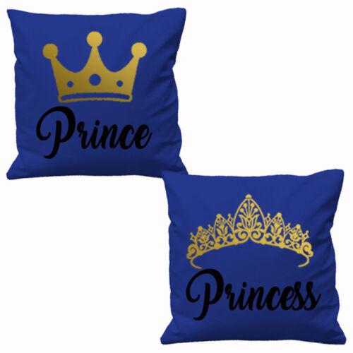 Prince et Princesse Housses De Coussin Saint Valentin Couples partenaires Cadeau Mariage