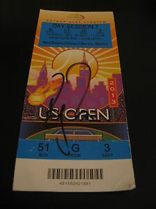 ROGER-FEDERER-SIGNED-AUTOGRAPH-US-OPEN-TICKET-RARE-ITEM-2013-COURTSIDE-TENNIS-B