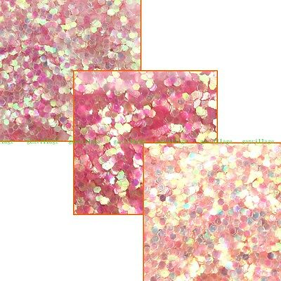 25g/set Hexagon Glitter Sequins Nail Art Decor Pink Orange Gradient Free Bottles