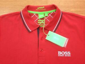 red hugo boss polo