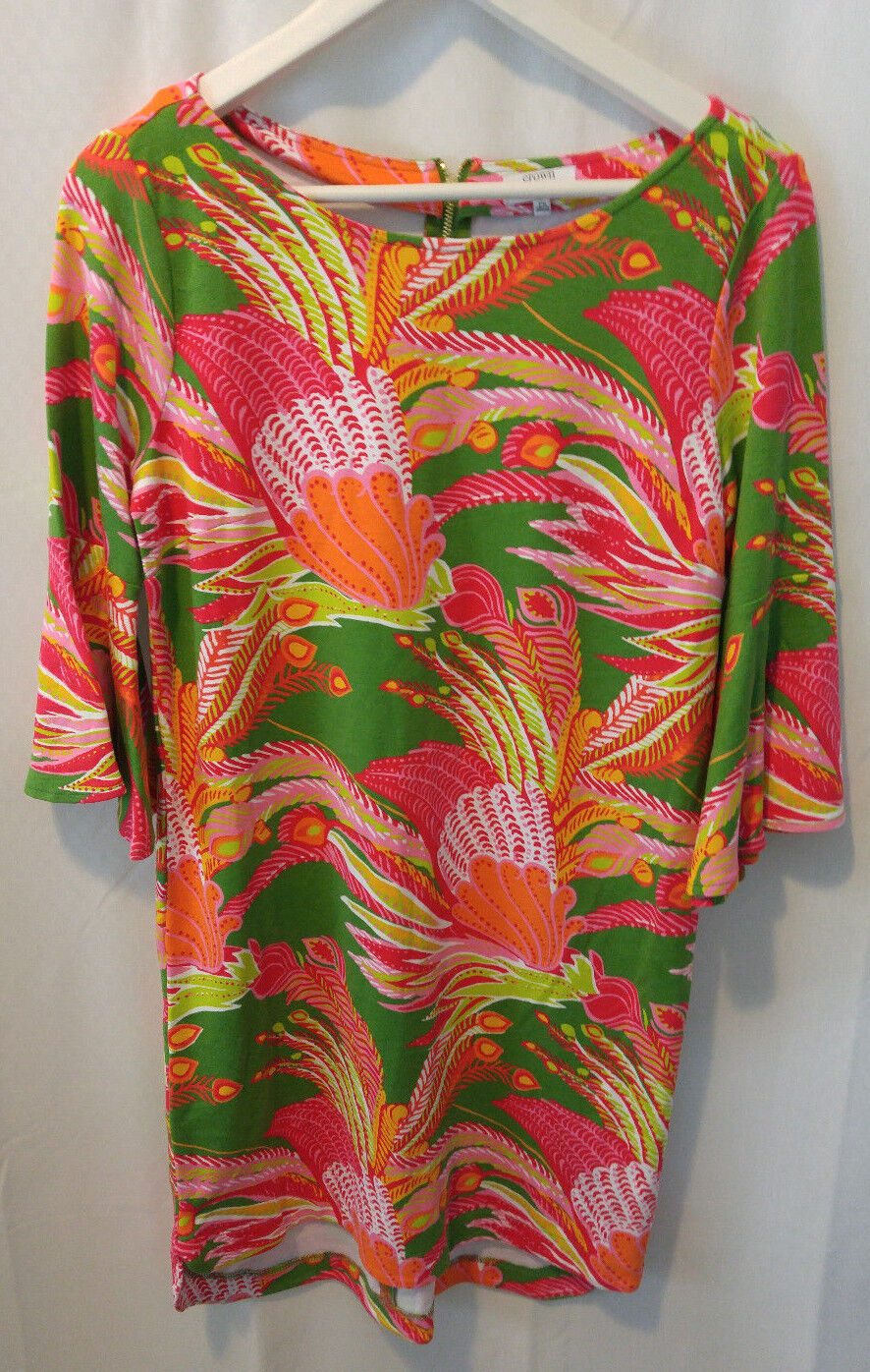 Crown & Ivy Dress Size Petite Small Floral Shift Fridas Garden Bell Sleeves