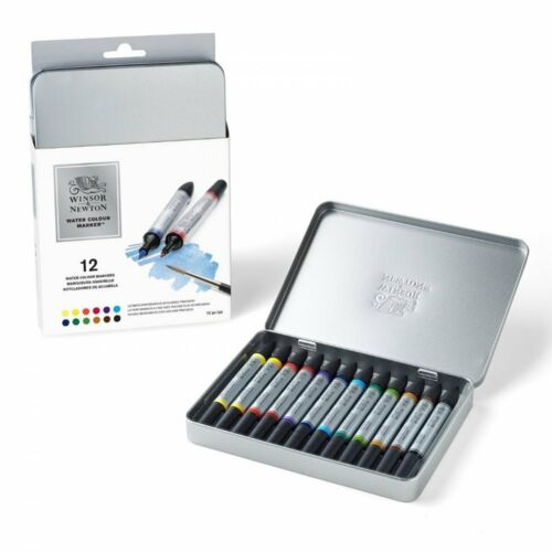 Winsor and Newton Water colour 12 marker set